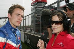 Robbie Kerr, driver of A1 Team Great Britain with Lee McKenzie