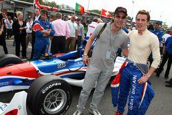 John Hannah and Robbie Kerr, driver of A1 Team Great Britain
