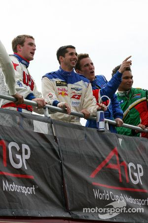 Jonathan Summerton, driver of A1 Team USA , Neel Jani, driver of A1 Team Switzerland, Robbie Kerr, driver of A1 Team Great Britain and Adrian Zaugg, driver of A1 Team South Africa