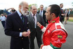 HRH Prince Michael of Kent and Nadhmi Auchi with Khalil Beschir, driver of A1 Team Lebanon