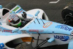 Race winner Narain Karthikeyan