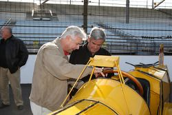 Rick Mears and Al Unser Sr. with the Marmon Wasp