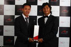 A1GP.com Fanzone Best A1 Team awarded to A1 Team Malaysia, Aaron Lim, driver of A1 Team Malaysia and Fairuz Fauzy, driver of A1 Team Malaysia
