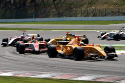 Claudio Cantelli, Ultimate Signature, followed by James Walker, Fortec Motorsport