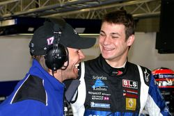 Kurt Mollenkens with KTR's other driver, Frenchman Guillaume Moreau