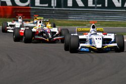 The leading group: Salvador Duran, Julien Jousse, Giedo van der Garde and Bertrand Baguette