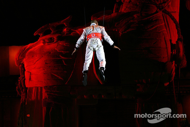 Lewis Hamilton, McLaren Mercedes, Lewis takes part a special performance, Troy