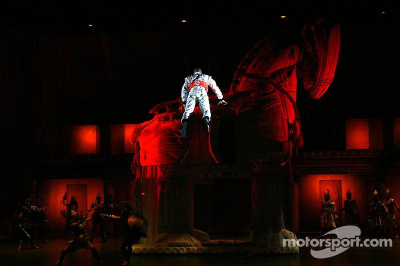 Lewis Hamilton, McLaren Mercedes, Lewis takes part a special performance, Troy
