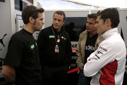 Roldan Rodriguez with Giancarlo Fisichella and Paolo Coloni, Fisichella Motor Sport International Te
