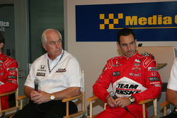 Penske press conference: Roger Penske and Helio Castroneves