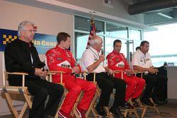 Penske press conference: Rick Mears, Ryan Briscoe, Roger Penske, Helio Castroneves and Tim Cindric