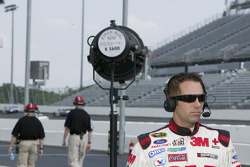 Greg Biffle makes an interview with NASCAR right before his final practice