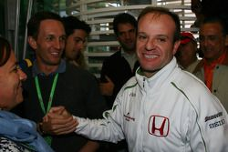 Luciano Burti, Former F1 Driver and Rubens Barrichello, Honda Racing F1 Team