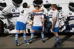 Nick Heidfeld, BMW Sauber F1 Team, Robert Kubica,  BMW Sauber F1 Team, Christian Klien, Test Driver, BMW Sauber F1 Team