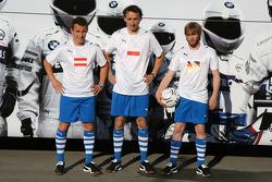 Nick Heidfeld, BMW Sauber F1 Team, Robert Kubica, BMW Sauber F1 Team, Christian Klien, piloto de pr