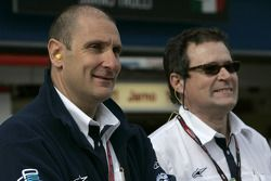 Bruno Michel, GP2 Series Organiser with Didier Perrin, Technical Director
