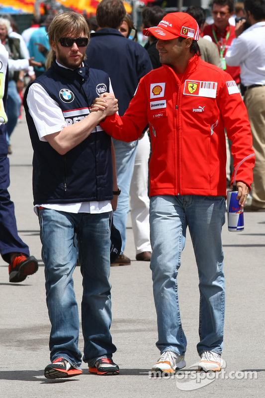 Nick Heidfeld, BMW Sauber F1 Team and Felipe Massa, Scuderia Ferrari