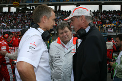 Martin Whitmarsh, McLaren, Chief Executive Officer with and Dr. Dieter Zetsche, Chairman of Daimler