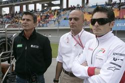 Giancarlo Fisichella en la parrilla de salida