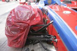 Wrecked car of Bruno Senna