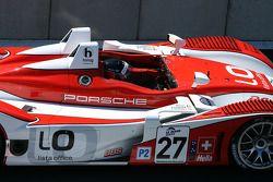 Horag Racing Porsche RS – Spyder : Jan Lammers, Didier Theys et Fredy Lienhard à La Source, en attendant de se qualifier après le drapeau rouge