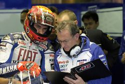 Jorge Lorenzo with crew chief Ramon Forcada