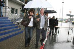 Rolf Schumacher, father of Michael Schumacher, with Barbara Stahl