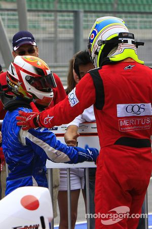 Ryuichi Nara congratulated by Ross Jamison