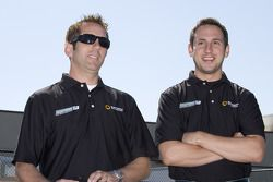 Erik Darnell and Greg Biffle at a go-kart event