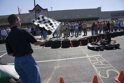 Greg Biffle at a go-kart event