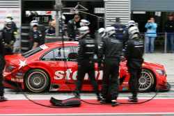 Gary Paffett, Persson Motorsport AMG Mercedes, AMG-Mercedes C-Klasse, leaving after a pitstop