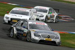 Bruno Spengler, Team HWA AMG Mercedes, AMG Mercedes C-Klasse, leads Tom Kristensen, Audi Sport Team