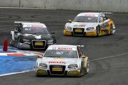Alexandre Prémat, Audi Sport Team Phoenix, Audi A4 DTM, leads Markus Winkelhock, Audi Sport Team Ros