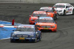 Maro Engel, Mücke Motorsport AMG Mercedes, AMG Mercedes C-Klasse, leads Mathias Lauda, Persson Motor