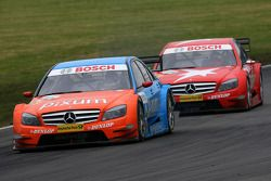 Mathias Lauda, Persson Motorsport AMG Mercedes, AMG Mercedes C-Klasse, leads Gary Paffett, Persson Motorsport AMG Mercedes, AMG-Mercedes C-Klasse