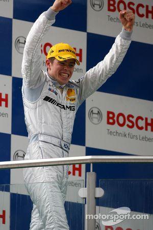 Podium: race winner Paul di Resta