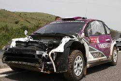 Milos Komljenovic, Renault Clio R3, crash