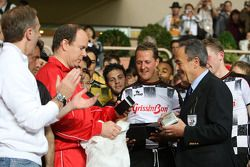 Michael Schumacher, Test Driver, Scuderia Ferrari and Prince Albert II of Monaco