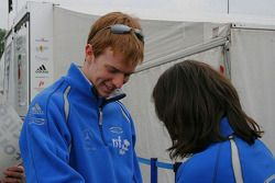 Oliver Turvey with Carlin's Michele Quaife