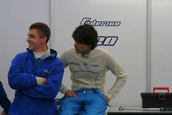 Matteo Chinosi and Federico Leo in the Ombra awning