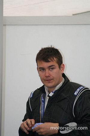 Kristjan Einar gets ready to race