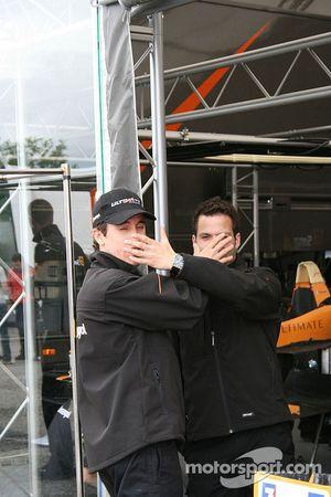 Esteban Guerrieri and Ricardo Teixeira act the fools