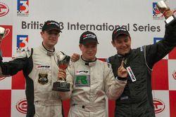 Hywel Lloyd, Jay Bridger and Kristjan Einar on the National Class podium