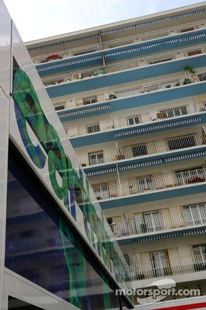 Residence' overlooking the F1 Paddock