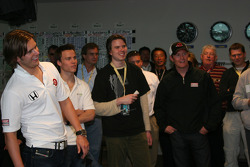 Dan Wheldon, Alex Lloyd and Scott Dixon