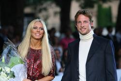 Petra Ecclestone, Daughter of Bernie Eccelestone and Jenson Button, Honda Racing F1 Team Amber Fashion which benefits the  Elton John Aids Foundation