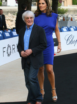 Bernie Ecclestone and Slavica Ecclestone, Wife to Bernie Ecclestone Amber Fashion which benefits the Elton John Aids Foundation