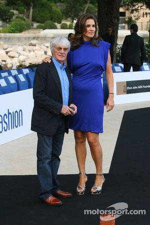 Bernie Ecclestone and Slavica Ecclestone, Wife to Bernie Ecclestone Amber Fashion which benefits the Elton John Aids Foundation