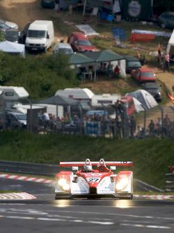 Romain Dumas does a demo run in the Porsche RS Spyder on the legendary Nordschleife