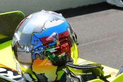 Logan Gomez's helmet